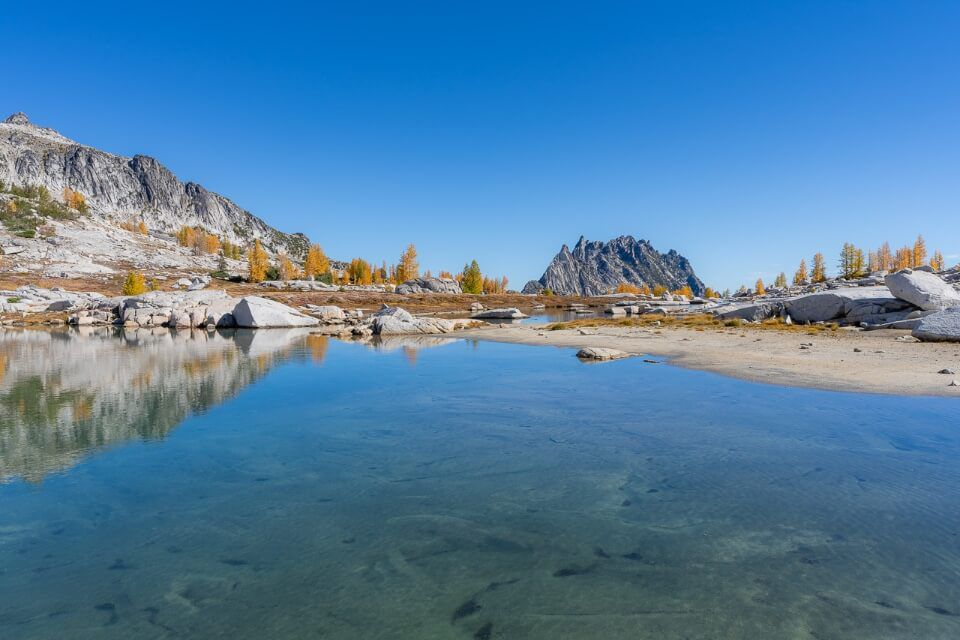 Upper Enchantments shallow lake