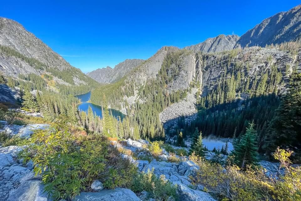 Nada Lake on the descent from the enchantments trail