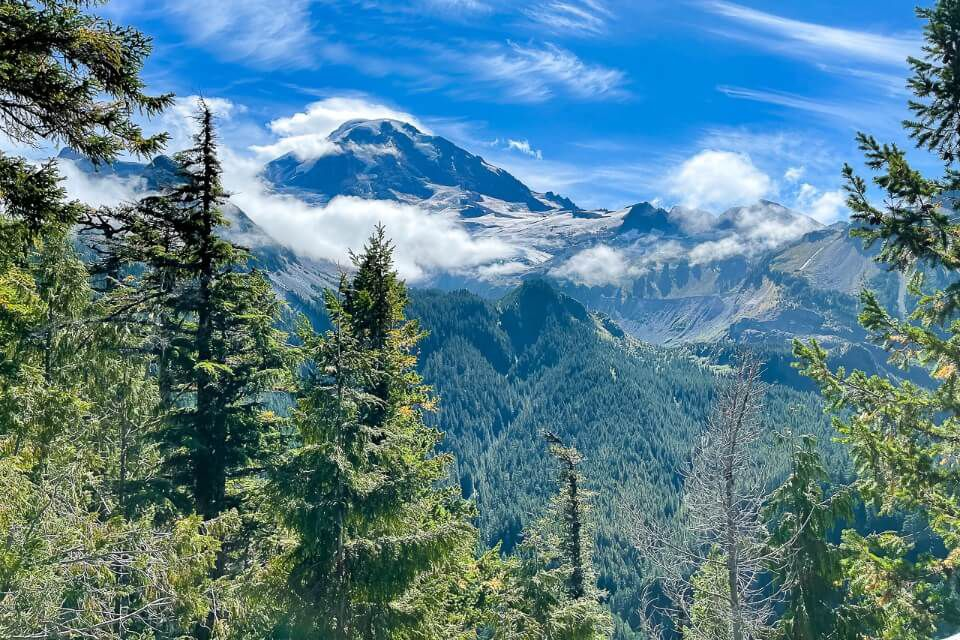 Eagle Cliff Overlook in Washington views of mountains and forest